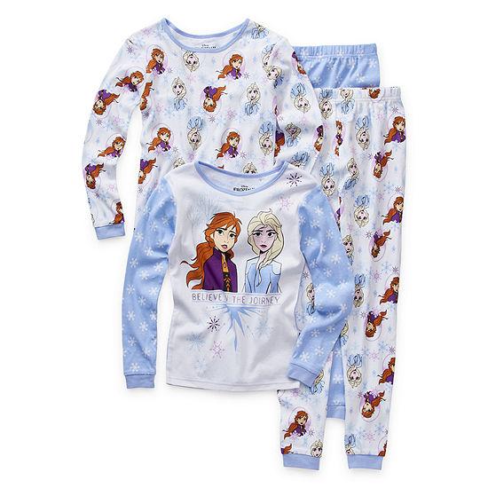 Disney Girls 4-pc. Frozen 2 Pant Pajama Set Preschool / Big Kid