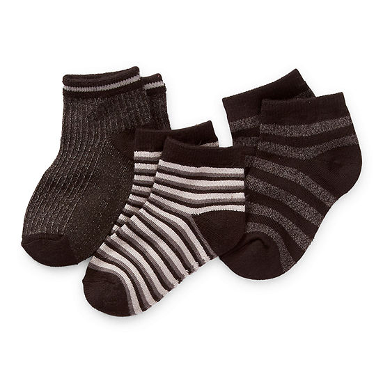 Cuddl Duds Toddler Boys 3 Pair Low Cut Socks