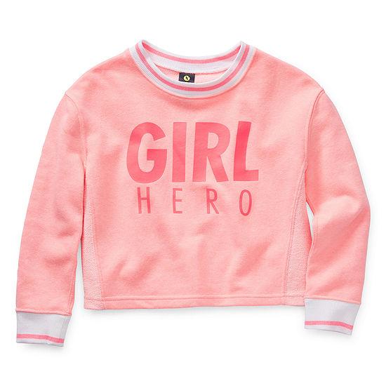 Xersion Girls Round Neck Long Sleeve Reversible Sweatshirt Preschool / Big Kid