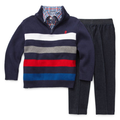 IZOD Boys 3-pc. Striped Pant Set Toddler