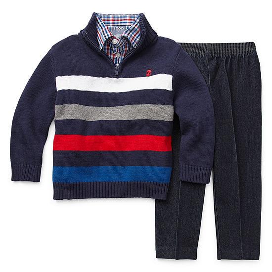 IZOD Boys 3-pc. Striped Pant Set Toddler