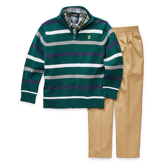 IZOD Boys 3-pc. Striped Pant Set Preschool