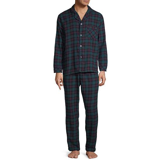 Stafford Mens 2-pc. Pant Pajama Set Big and Tall