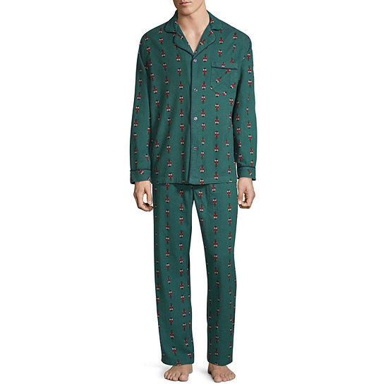 Stafford Mens 2-pc. Pant Pajama Set Big