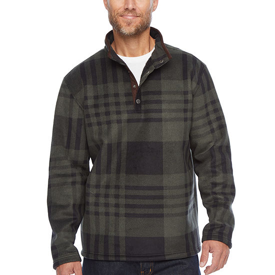 Smith Workwear Butter-Sherpa Lined Microfleece Snap Henley Pullover