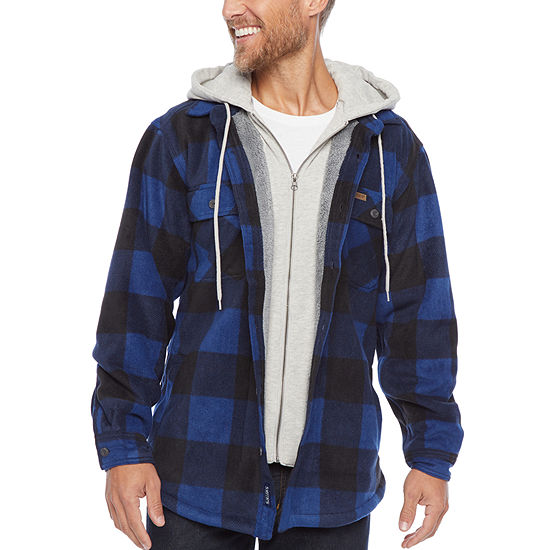 Smith Workwear Sherpa-lined Hooded Micro-Fleece Shirt Jacket