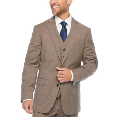 Stafford Super Tan Tic Classic Fit Stretch Suit Jacket