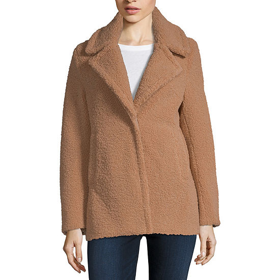 Maralyn And Me Reversible Sherpa Heavyweight Faux Fur Coat Juniors