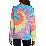 Flirtitude Juniors Womens Crew Neck Long Sleeve Sweatshirt