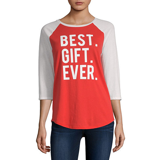 North Pole Trading Co.-Juniors Womens Crew Neck Short Sleeve Graphic T-Shirt