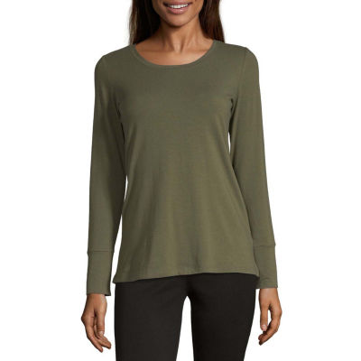 a.n.a. Womens Round Neck Long Sleeve T-Shirt