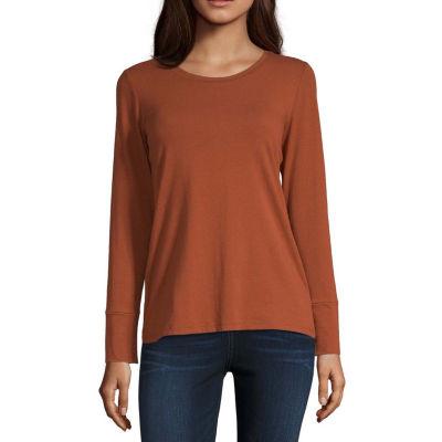 a.n.a-Womens Round Neck Long Sleeve T-Shirt