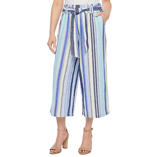 a.n.a Mid Rise Belted Cropped Pants - Petite