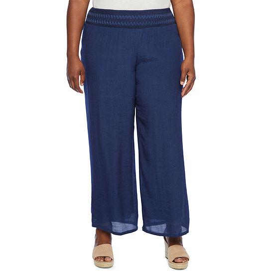 Alyx Womens Embellished Smock Waist Pant - Plus