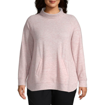Liz Claiborne Weekend Long Sleeve Raglan Tunic- Plus