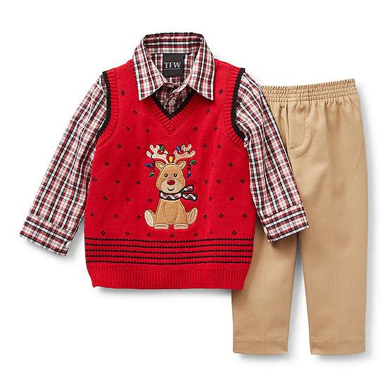 TFW Baby Boys 3-pc.Sweater Vest Set
