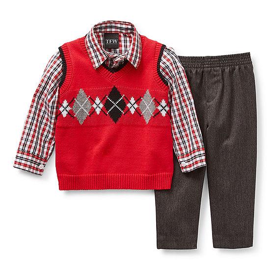 TFW Baby Boys 3-pc. Sweater Vest Set