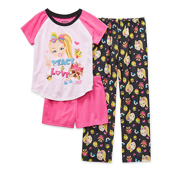 Little & Big Girls 3-pc. JoJo Siwa Pajama Set