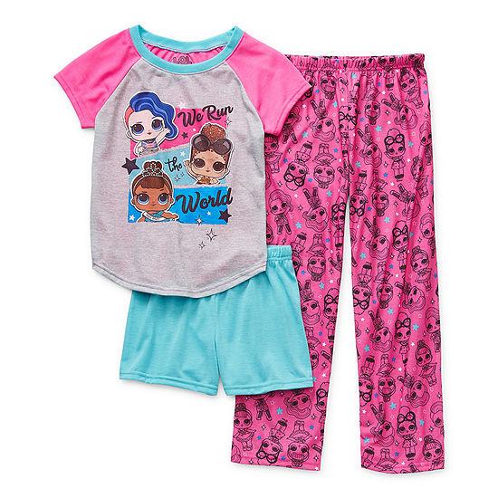 Little & Big Girls 3-pc. LOL Pajama Set