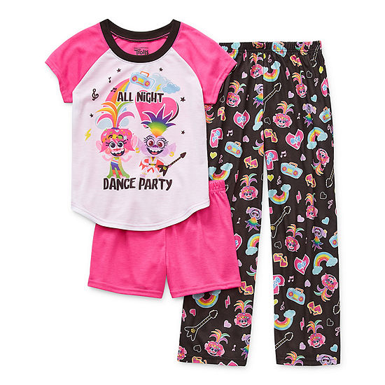Little & Big Girls 3-pc. Trolls Pajama Set