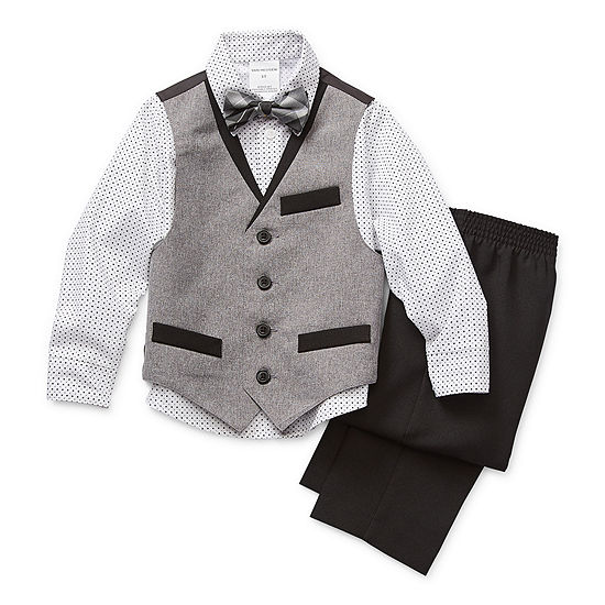 Van Heusen Toddler Boys 4-pc.Vest Set