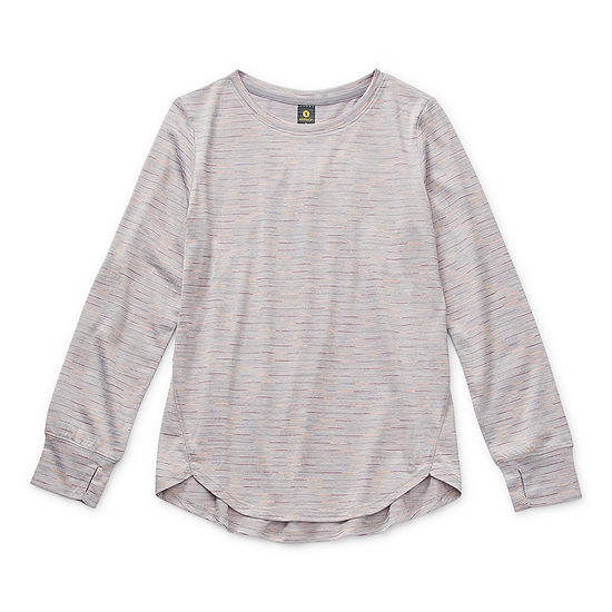 Xersion Little & Big Girls Round Neck Long Sleeve Tunic Top