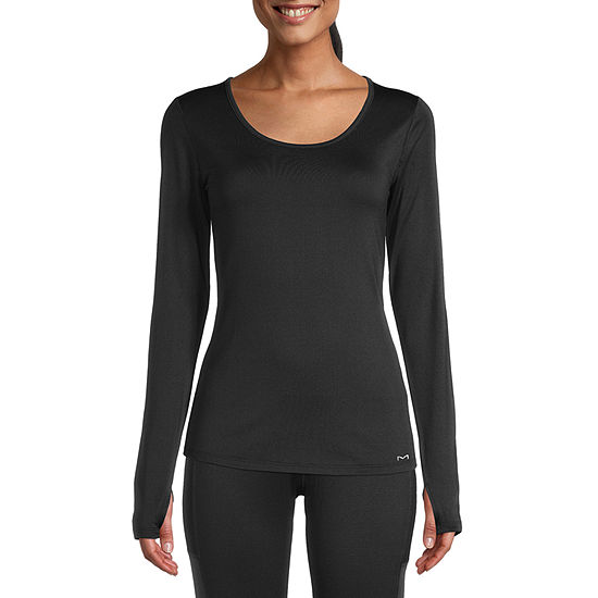 Maidenform Baselayer Midweight Scoop Neck Thermal Shirt