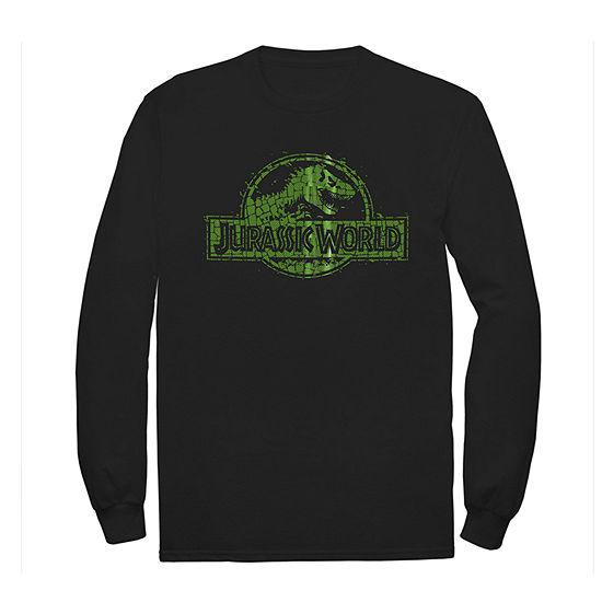 Little & Big Boys Crew Neck Jurassic World Long Sleeve Graphic T-Shirt