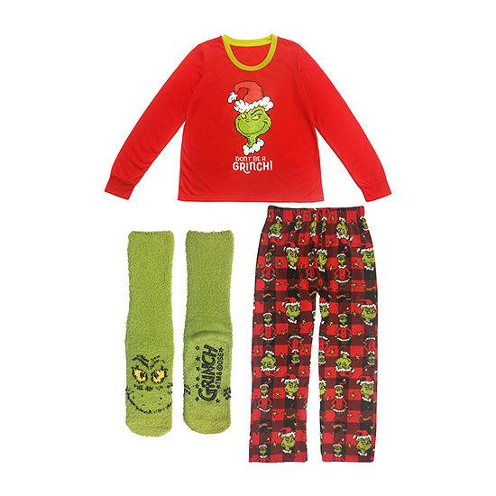 Dr. Seuss Mens 3-pc. Pant Pajama Set