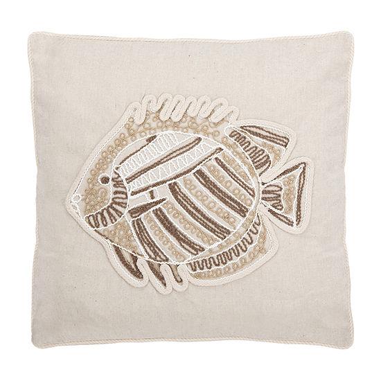 Safavieh Felina Natural Square Throw Pillow