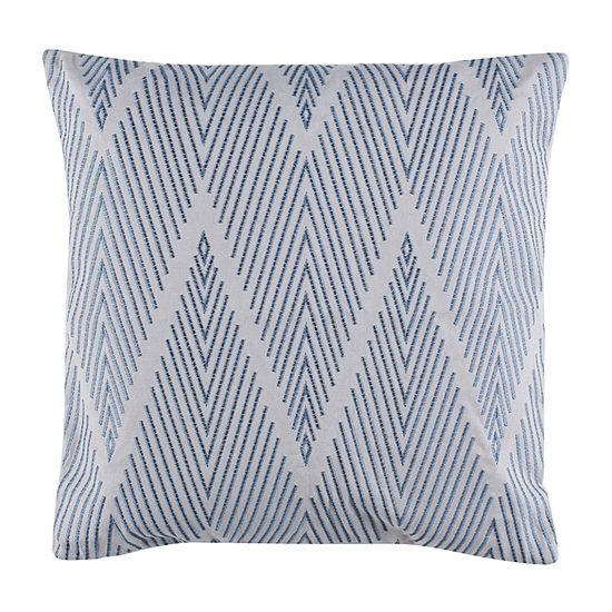 Safavieh Elmira Grey Blue Square Throw Pillow