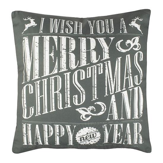 Safavieh Merry Green White Square Throw Pillow