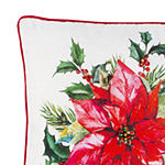 Safavieh Holiday Ivory Red Green Square Throw Pillow