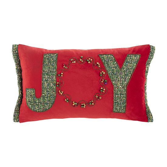 Safavieh Holiday Green Red Rectangular Throw Pillow