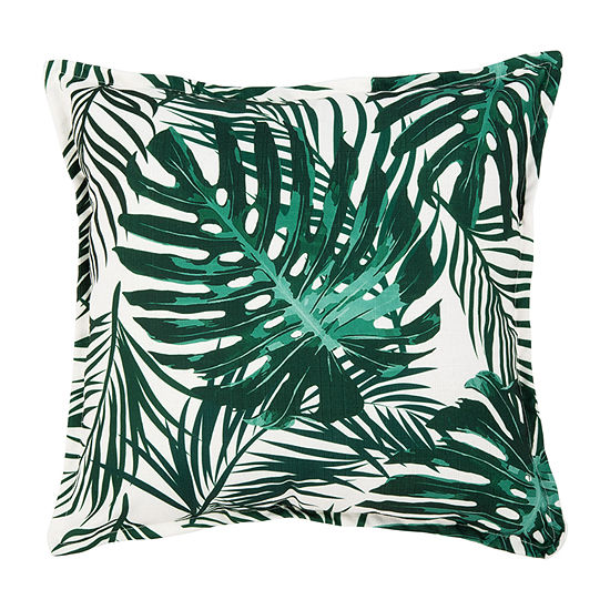 Safavieh Andala Green White Square Throw Pillow