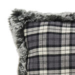 Safavieh Sammi Grey Blue Plaid Square Throw Pillow