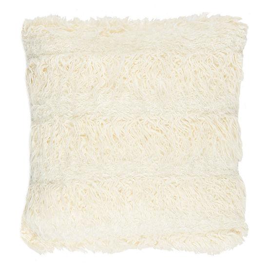 Safavieh Renda Cream Square Throw Pillow