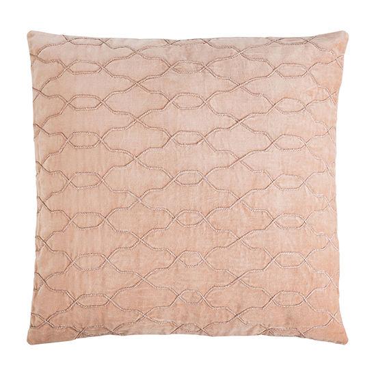 Safavieh Kas Blush Square Throw Pillow