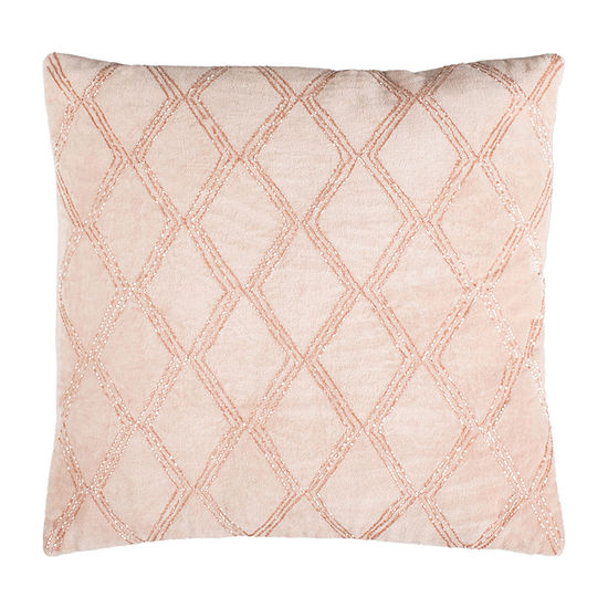 Safavieh Diana Blush Square Throw Pillow
