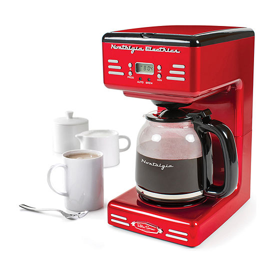 Nostalgia Retro 12-Cup Programmable Coffee Maker With LED Display