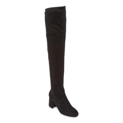 Liz Claiborne Womens Yorkshire Over the Knee Boots Block Heel
