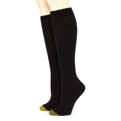GoldToe® 2-pk. Wool-Blend Argyle Knee-High Socks