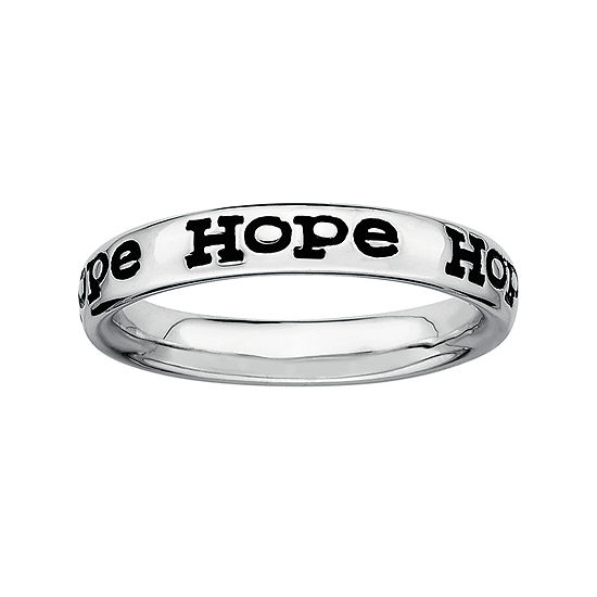 """Personally Stackable Sterling Silver """"Hope"""" Stackable Ring"""