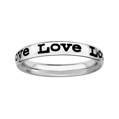 "Personally Stackable Sterling Silver ""Love"" Stackable Ring"