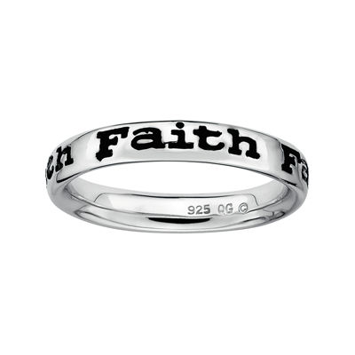 "Personally Stackable Sterling Silver ""Faith"" Stackable Ring"
