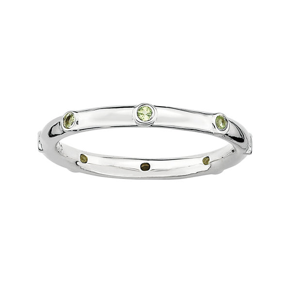 Fine Jewelry Personally Stackable Sterling Silver Oxidized Stackable Ring 4pkabU5rq