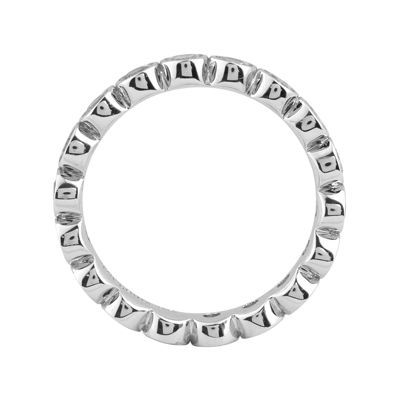 Personally Stackable Genuine White Topaz Sterling Silver Eternity Ring