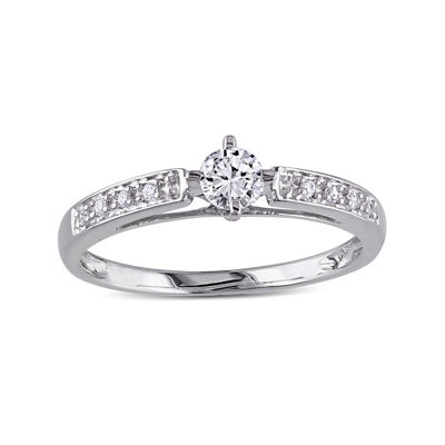 1/4 CT. T.W. Diamond 10K White Gold Bridal Ring