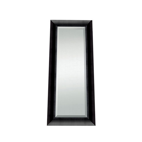 Satin Black Beveled Full Length Wall Mirror