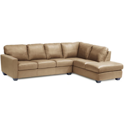 Leather Possibilities 2-pc. Right-Arm Corner Sectional